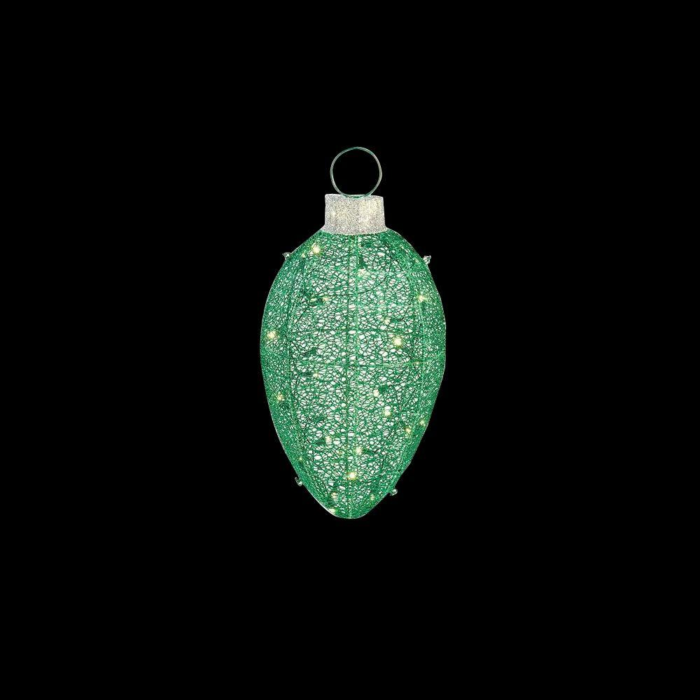 Illuminated Led Ornaments: Home Accents Holiday 24 In. LED Lighted Green Mesh Hanging