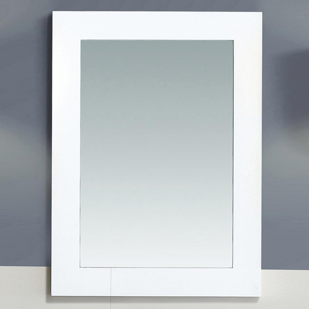 W Wall Mounted Mirror In White