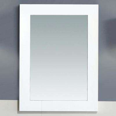 Bristol 30 in. L x 22 in. W Wall Mounted Mirror in White