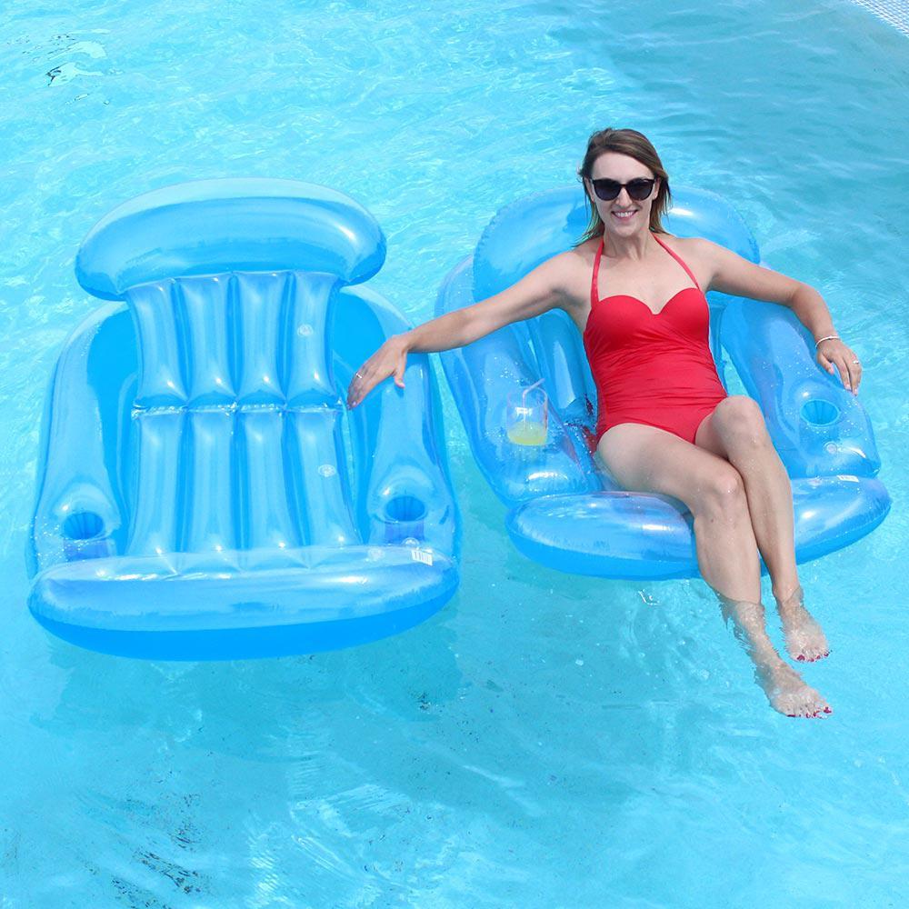 Blue Pool Sun Lounge 2-Pack