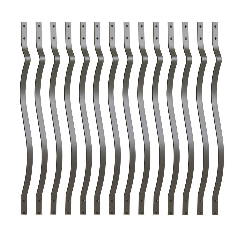 DeckoRail 3/4 in  x 26 in  Black Aluminum Round Baluster (15