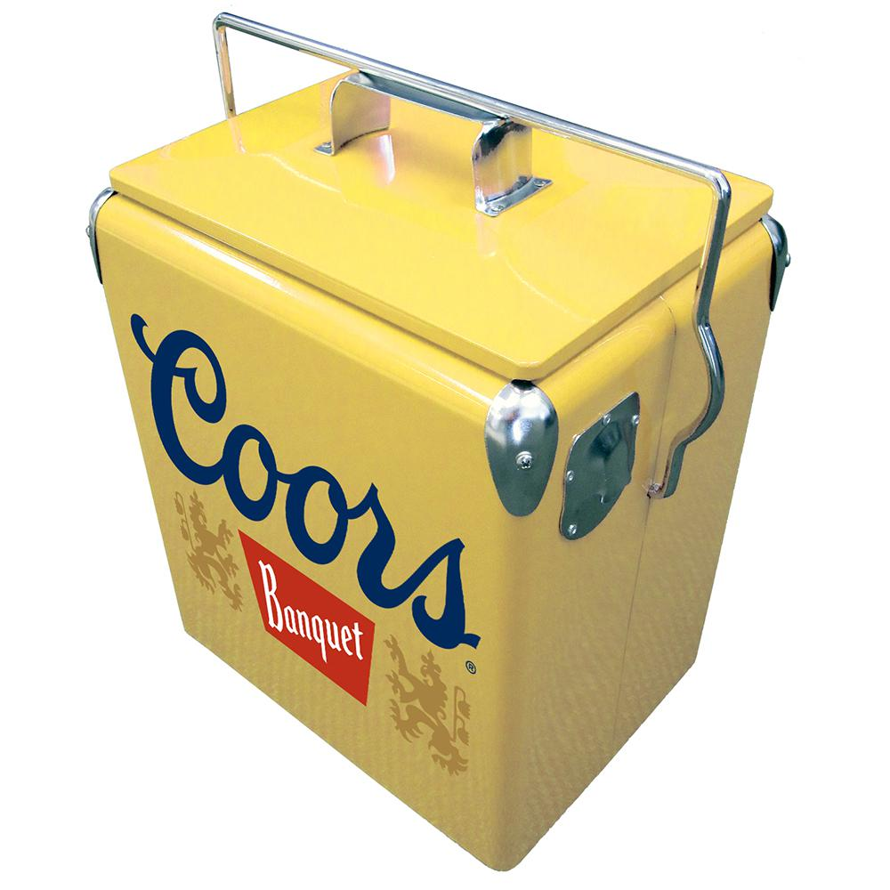 Koolatron 13 L Stainless Steel Coors Banquet Vintage Ice Chest Cooler