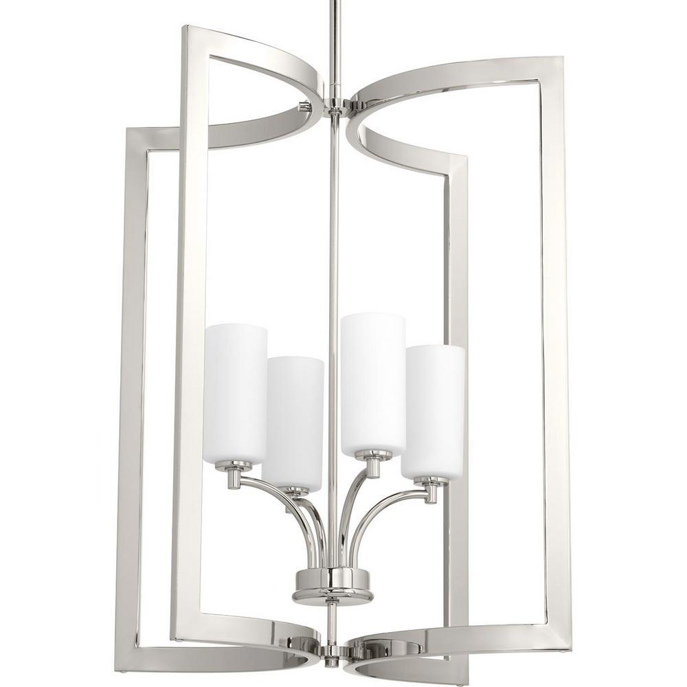 Celeste Collection 4-Light Polished Nickel Pendant