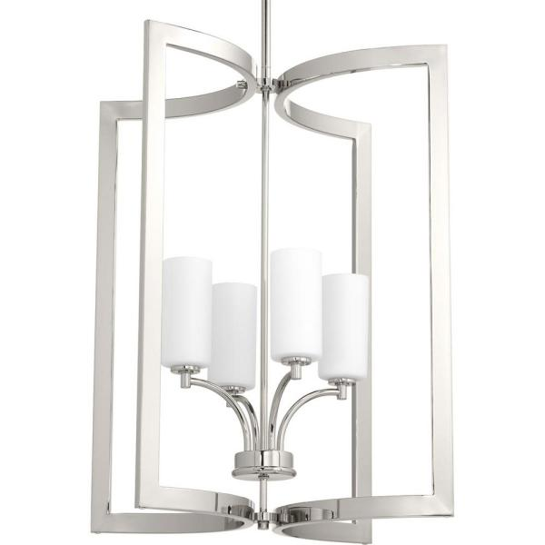 Celeste Collection 4-Light Polished Nickel Pendant