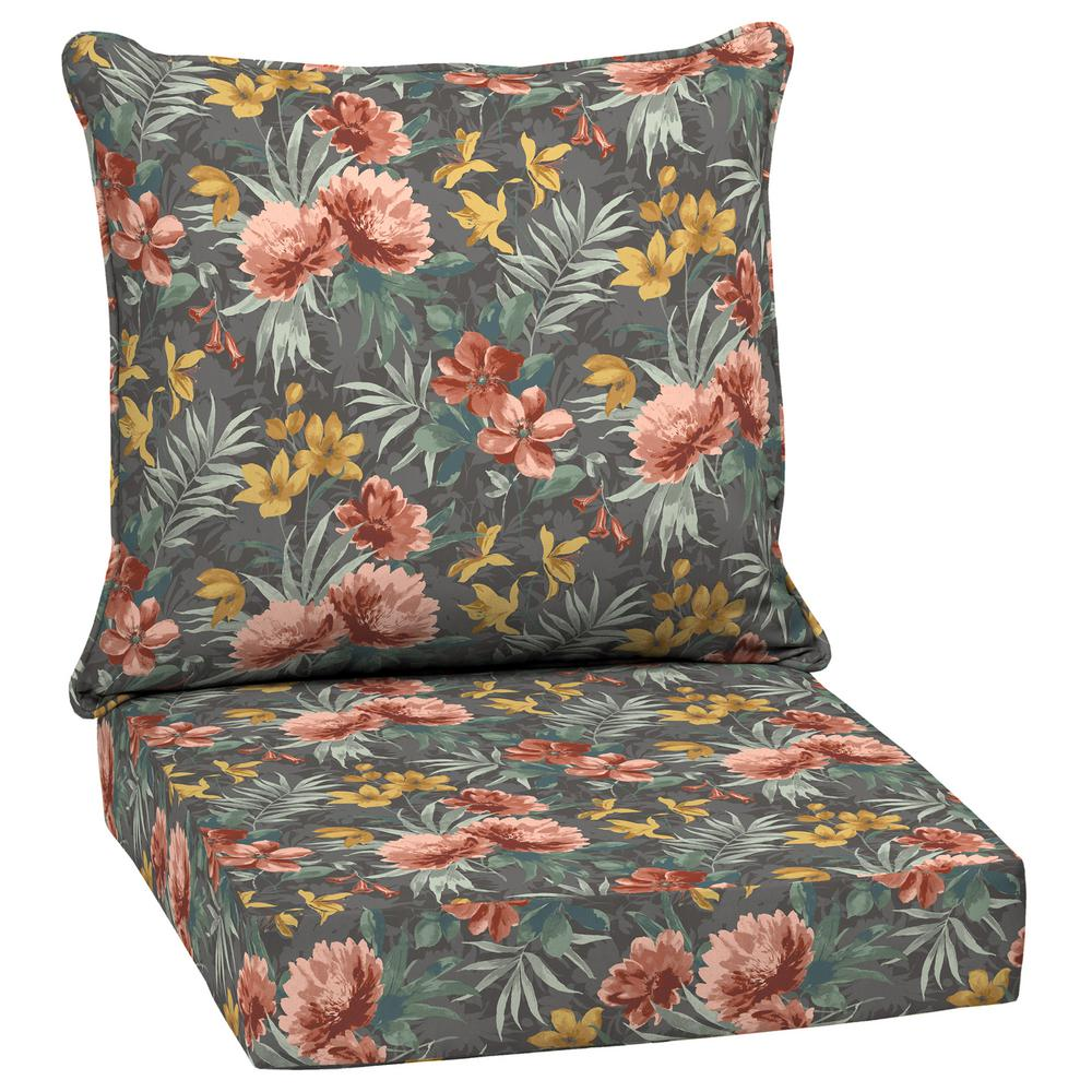 ArdenSelections Arden Selections 24 in. x 22.5 in. Phoebe Floral 2-Piece Outdoor Deep Seating Lounge Chair Cushion