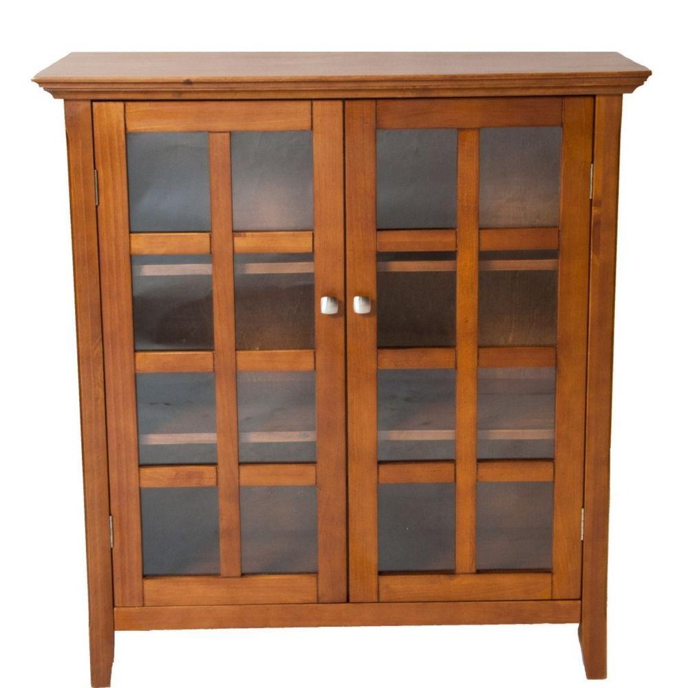 Simpli Home Acadian Light Brown Medium Storage Cabinet-DISCONTINUED