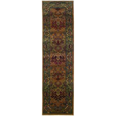 Peace Clay 3 ft. x 9 ft. Runner Rug