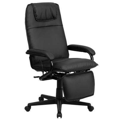 High Back Black Leather Executive Reclining Swivel Office Chair