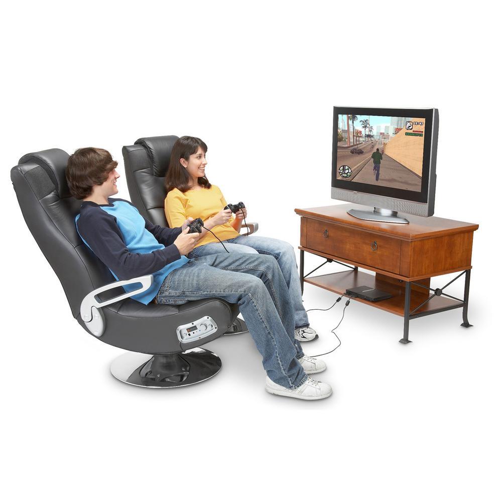 Swell X Rocker Black Vinyl Wireless Audio Pedestal Chair 5127401 Machost Co Dining Chair Design Ideas Machostcouk