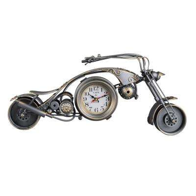25 in. Long Gunmetal Motorcycle Replica Metal
