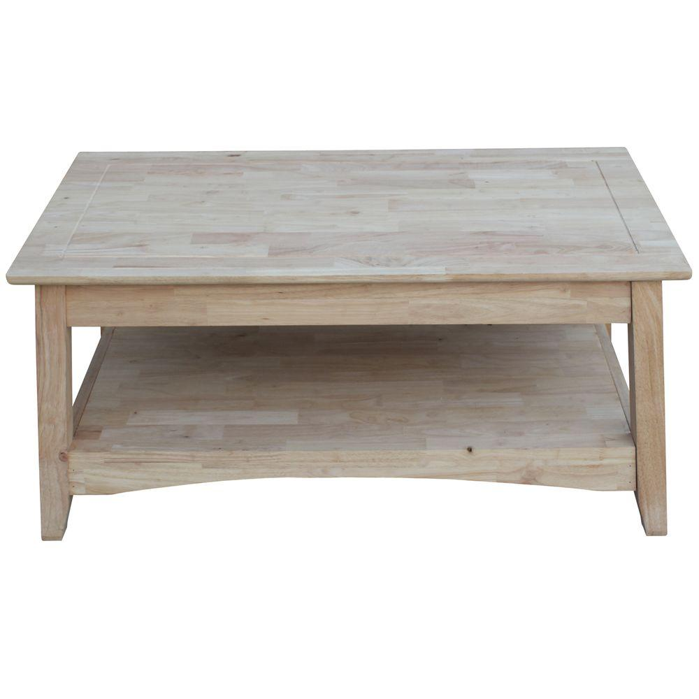 International Concepts Bombay Unfinished Lift Top Coffee Table