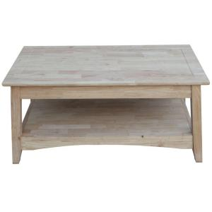 Awesome International Concepts Bombay Unfinished Lift Top Coffee Table OT 4TCL    The Home Depot