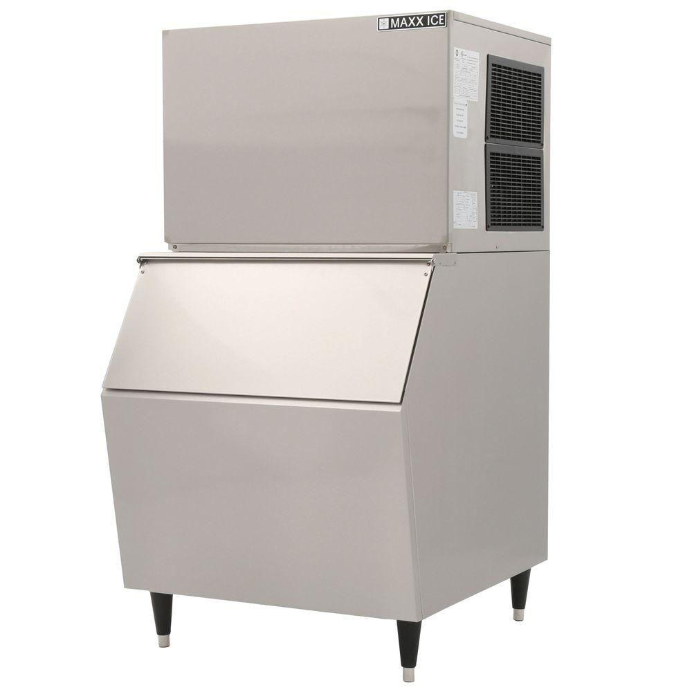 Maxx Ice 600 lb. Freestanding Icemaker in Stainless Steel