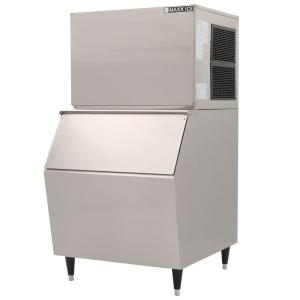 Maxx Ice 600 Lb. Freestanding Icemaker In Stainless Steel MIM600B   The  Home Depot