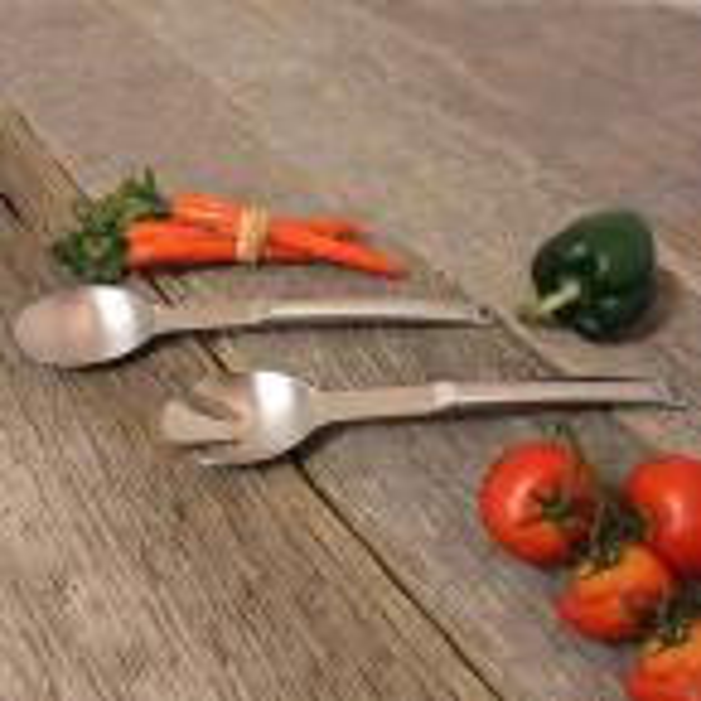 BergHOFF Eclipse Stainless Steel Salad Utensils (Set of 2)