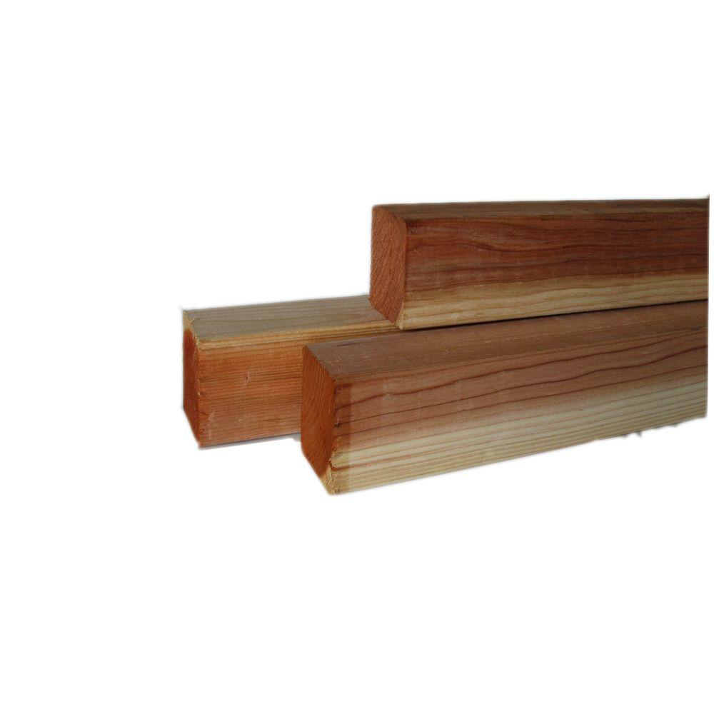 null 3-3/8 in. x 3-3/8 in. x 12 ft. Redwood Lumber