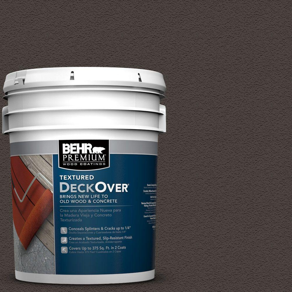 5 gal. #SC-104 Cordovan Brown Wood and Concrete Coating