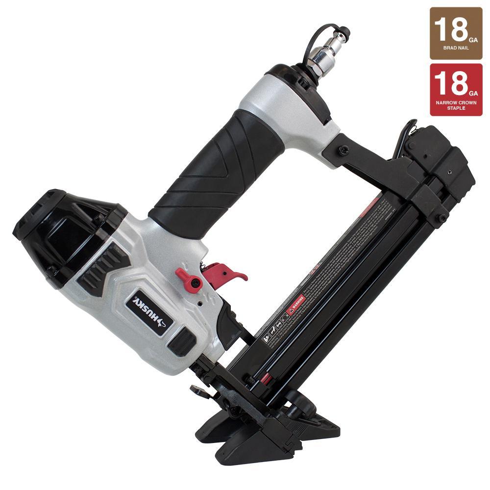 Husky Pneumatic 18-Gauge 4-in-1 Mini Flooring Nailer And