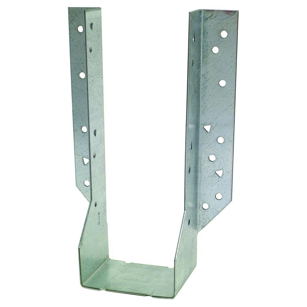 2 in. x 10 in. 14-Gauge Double Face Mount Joist Hanger
