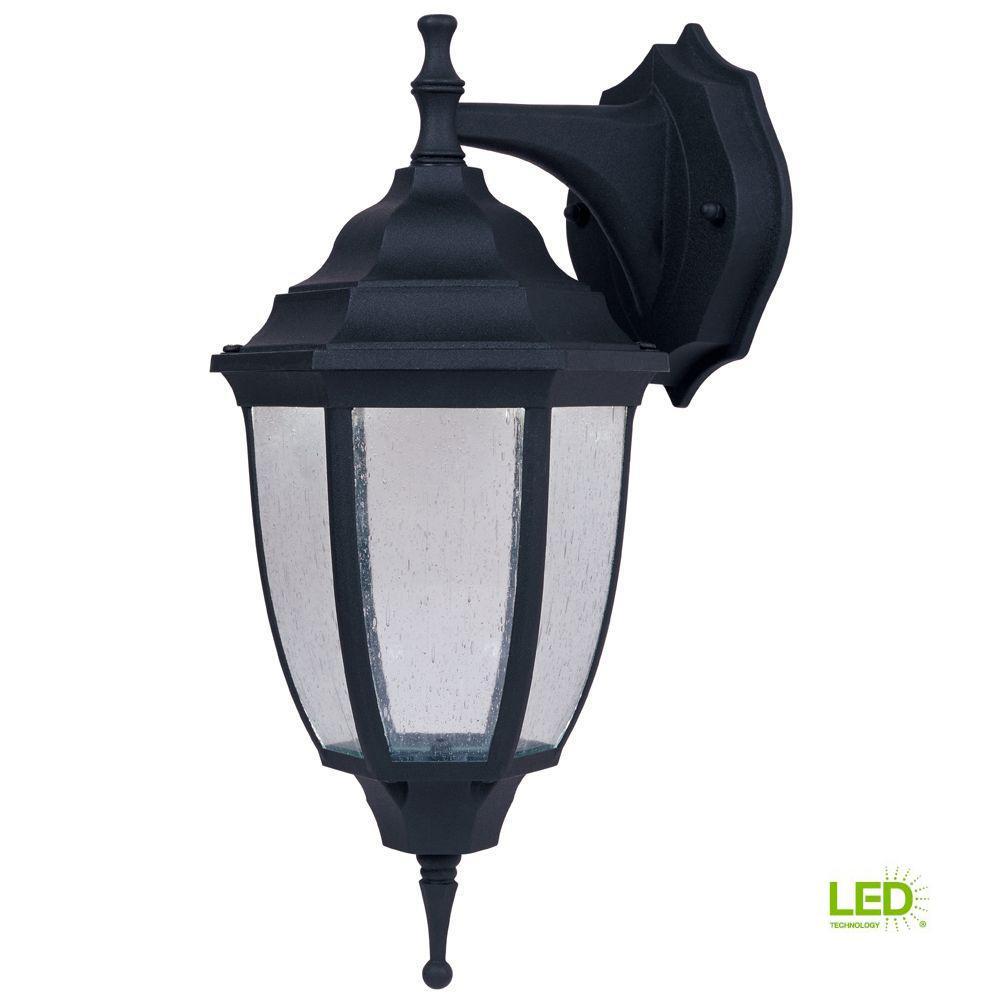 Lexington Black Outdoor LED Wall Lantern