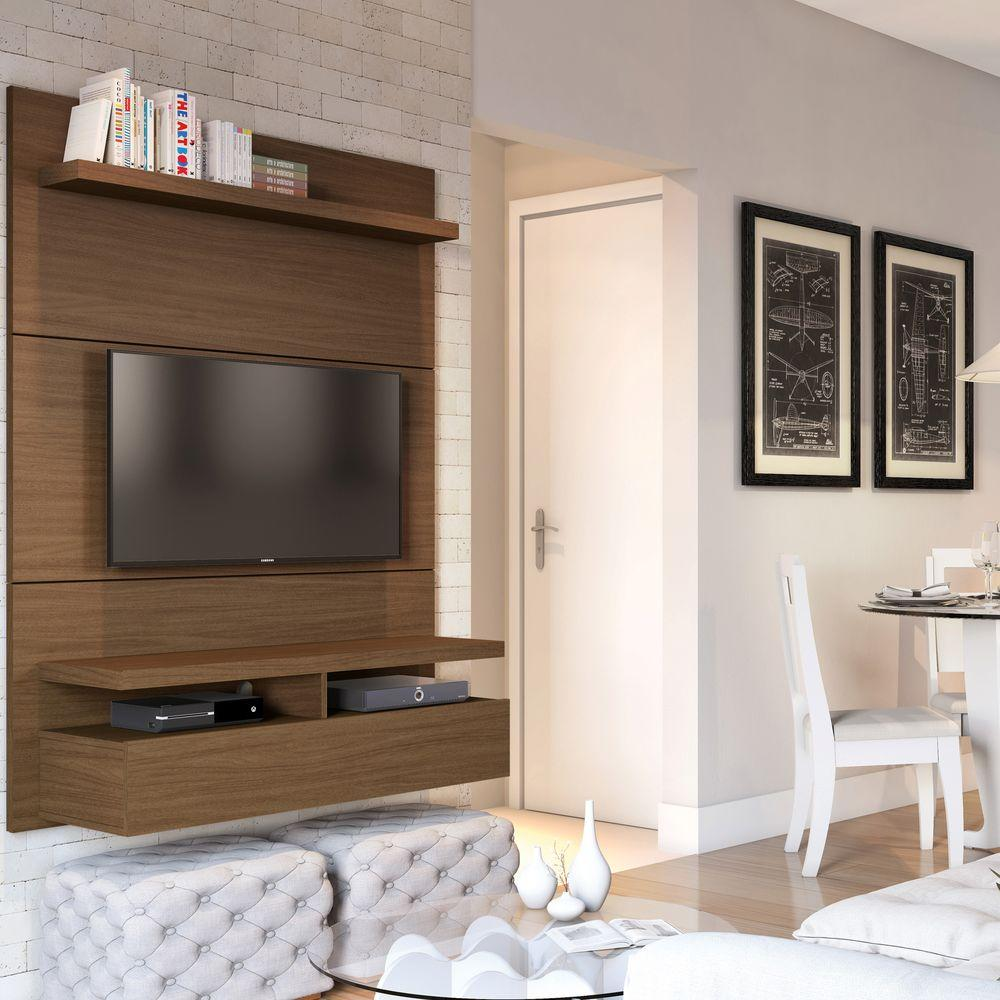 Manhattan comfort city nut brown entertainment center for Comfort house
