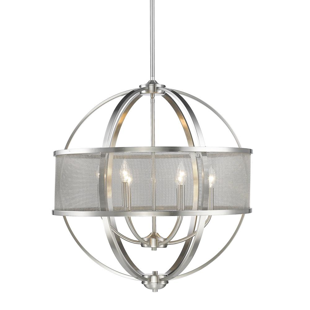 Golden lighting colson pw 6 light pewter chandelier 3167 6 pw pw golden lighting colson pw 6 light pewter chandelier arubaitofo Image collections