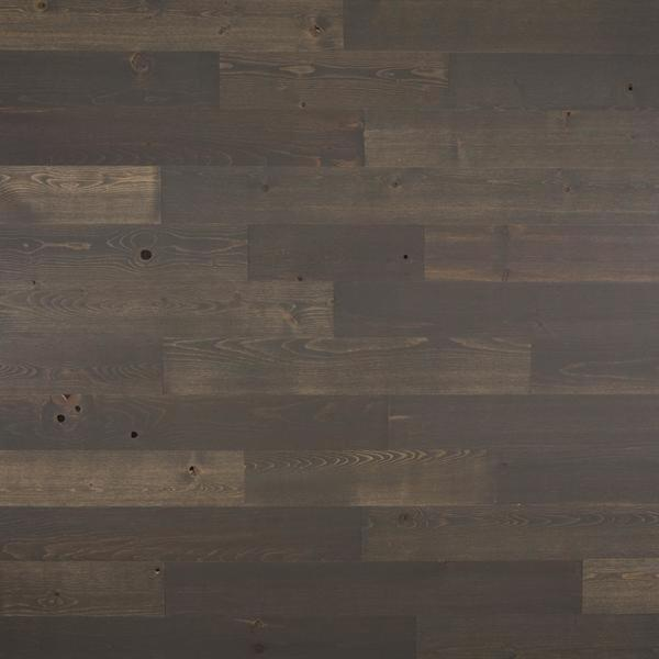 Timberchic 1/8 in. x 4 in. x 12-42 in. Peel and Stick Dark Gray Wooden Decorative Wall Paneling (10 sq. ft./Box)