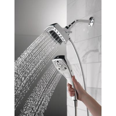 In2ition Two-in-One 5-Spray 5.8 in. Dual Wall Mount Fixed and Handheld Shower Head in Chrome