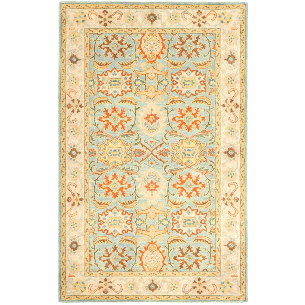 Safavieh Heritage Light Blue Ivory 5 Ft X 8 Area Rug