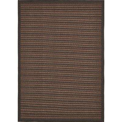 "Outdoor Border Brown 8' x 11'4"" Rug"