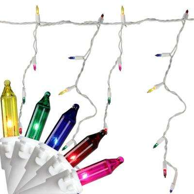 7 ft. 100-Light Multi-Color Mini Icicle Lights
