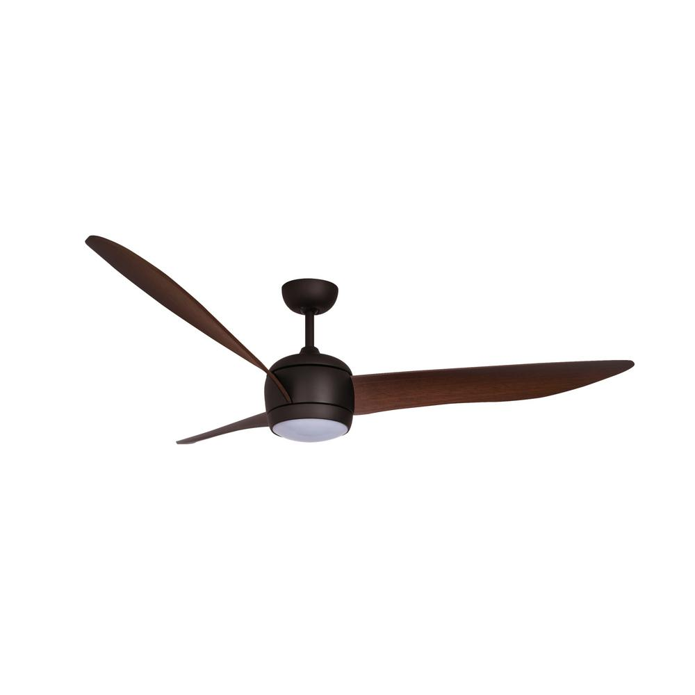 Lucci Air Nordic 56 in. Oil Rubbed Bronze and Dark Koa Blades Ceiling Fan with LED Light Kit and Remote Control