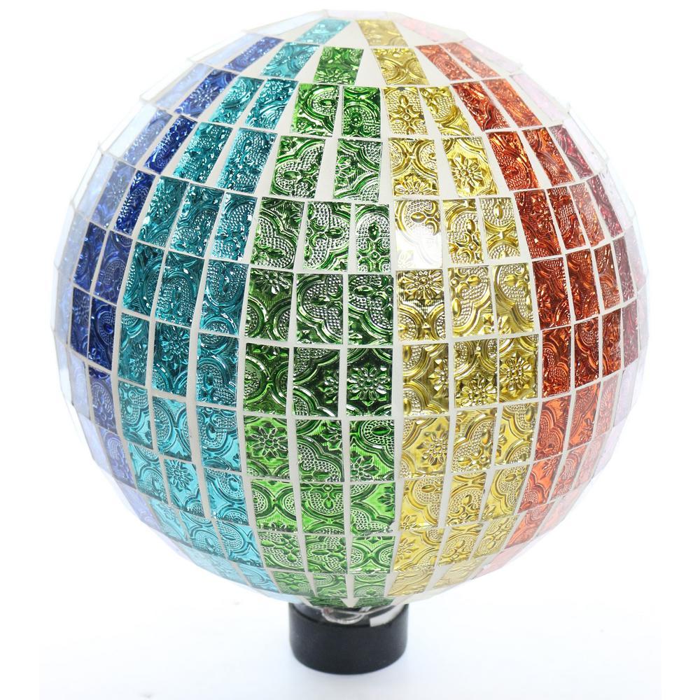 Rainbow Mosaic Gazing Globe Embossed Tile Pattern