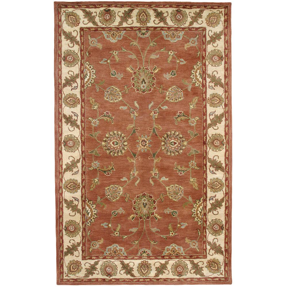 Dynamic Rugs Charisma Rust Ivory 9 Ft 6 In X 13 Ft 6 In