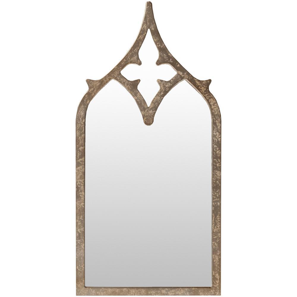 Halley 46 in. x 23 in. MDF Framed Mirror