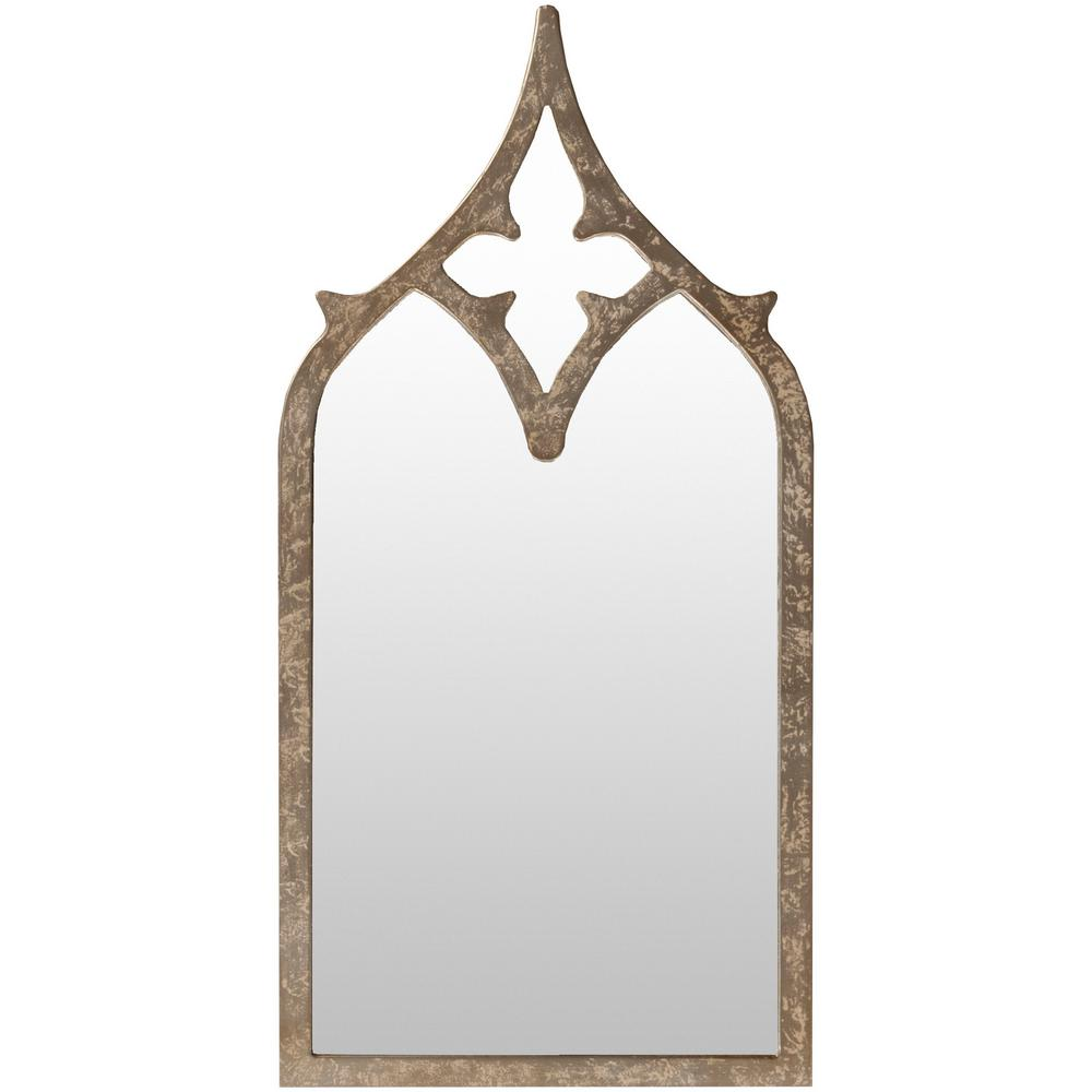 Halley 46 in. x 23 in. MDF Framed Mirror