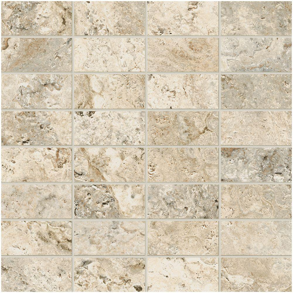 MARAZZI Travisano Trevi 12 in. x 12 in. x 8 mm Porcelain Mosaic ...