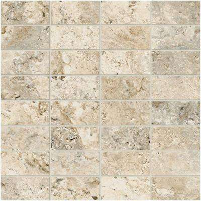 Travisano Trevi 12 in. x 12 in. x 8 mm Porcelain Mosaic Floor and Wall Tile