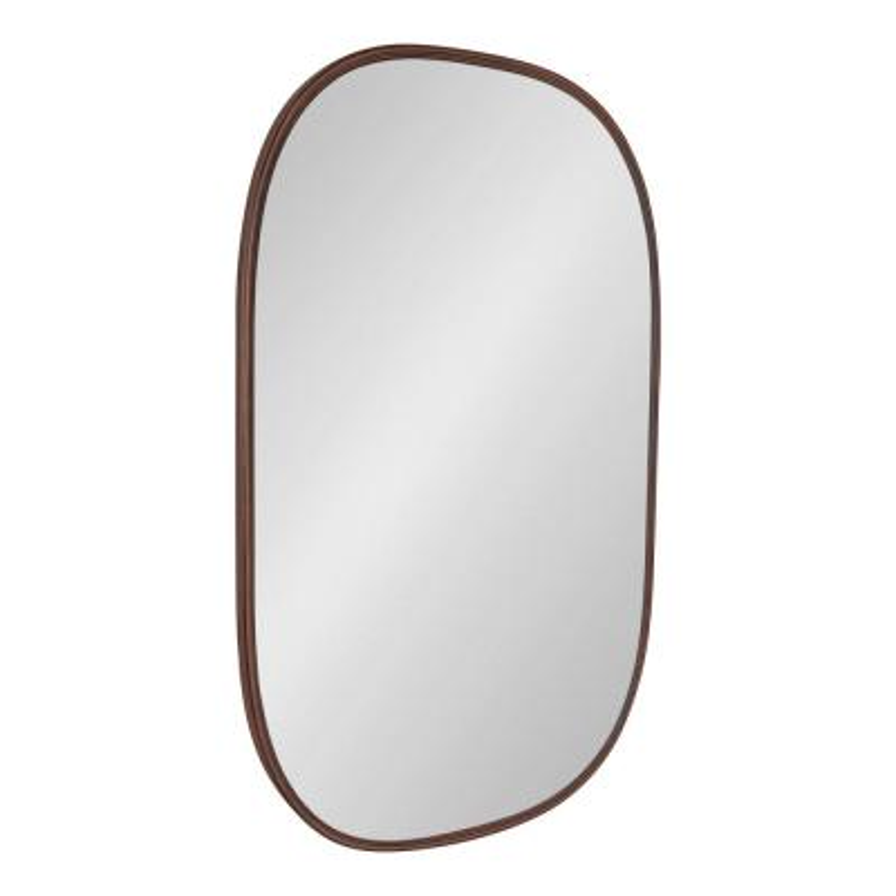 Medium Oval Bronze Neo-Classical Mirror (35.5 in. H x 23.63 in. W)