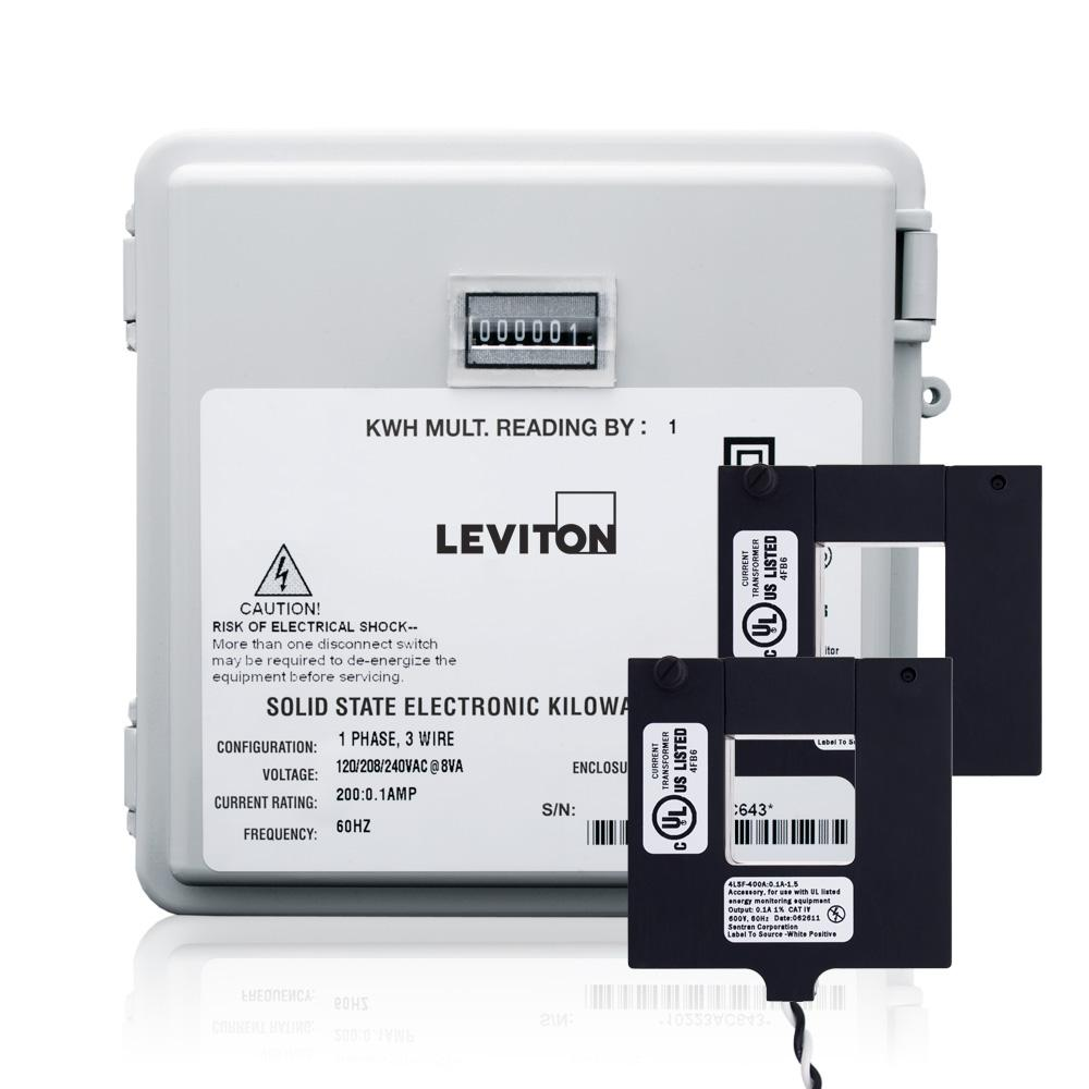 Leviton 200 Amp Mini Meter Kit With 2 Split Cts And Outdoor Diagram For Base Wiring Enclosure White