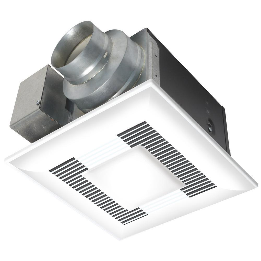 panasonic deluxe 110 cfm ceiling bathroom exhaust fan with cfl light
