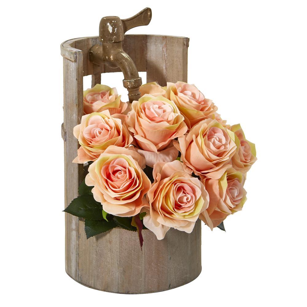 Nearly Natural 1597-AS Mum Artificial Vase Silk Arrangements Assorted