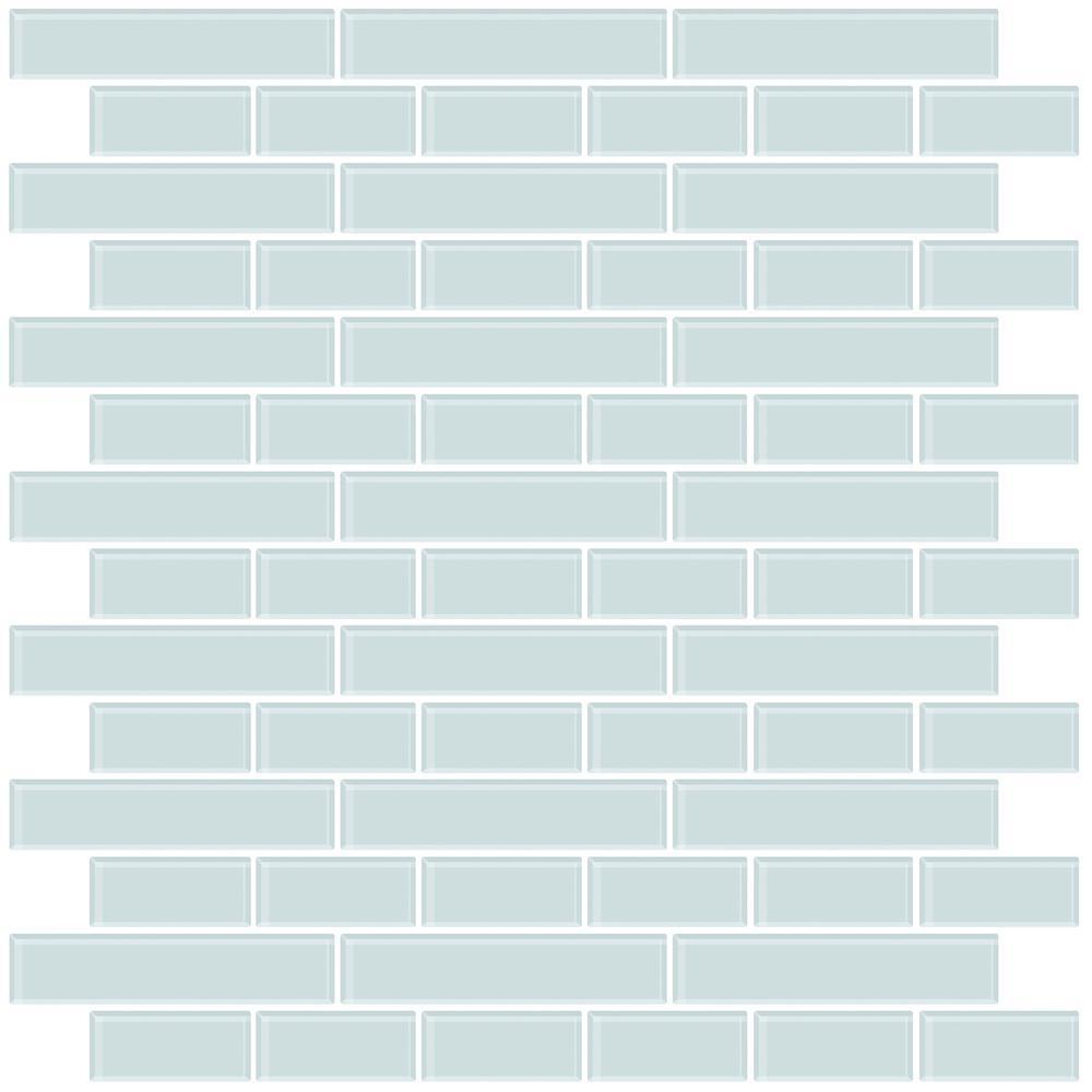 - Wall Pops Blue Sea Glass Peel Stick Backsplash Tiles NH2361 - The
