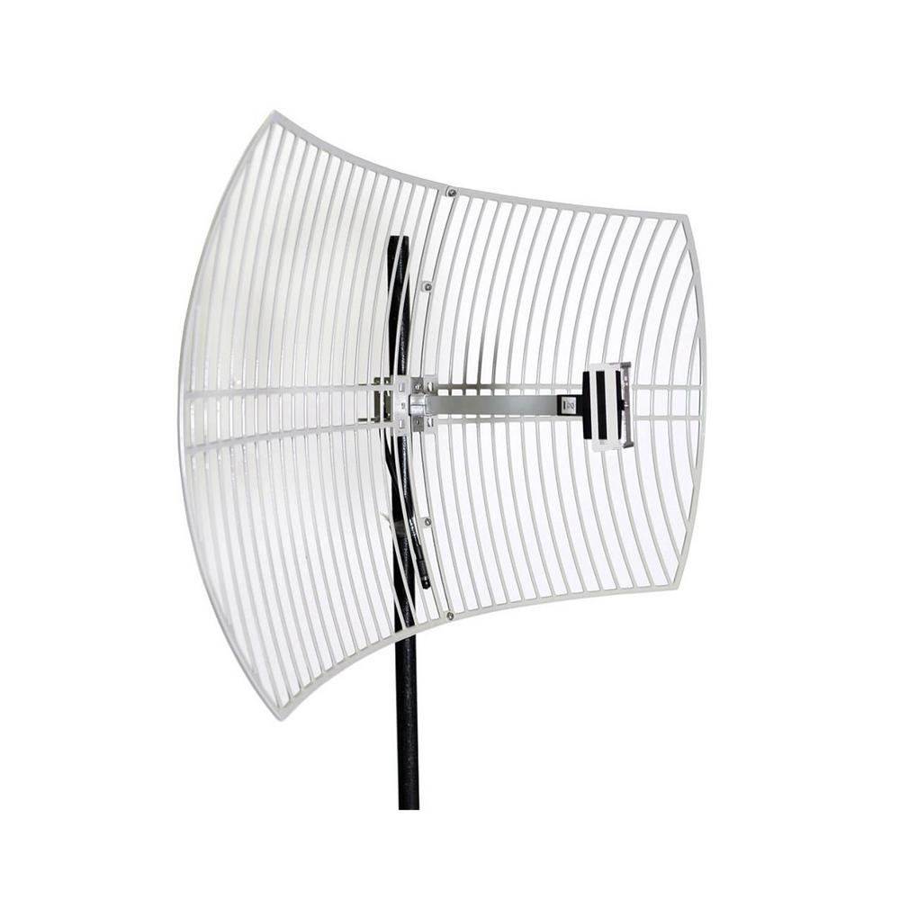 Homevision Technology Turmode Grid Parabolic Wi-Fi Antenna for 2.4GHz Turmode WAG24242 WiFi Antenna is designed to increase the signal strength and range of your 2.4 GHz 802.11b/g/n Wi-Fi device. This high gain antenna can provides further coverage for your Wi-Fi devices such as routers, adapters, access points and repeaters. So you can expand your network for reliable coverage throughout your home.