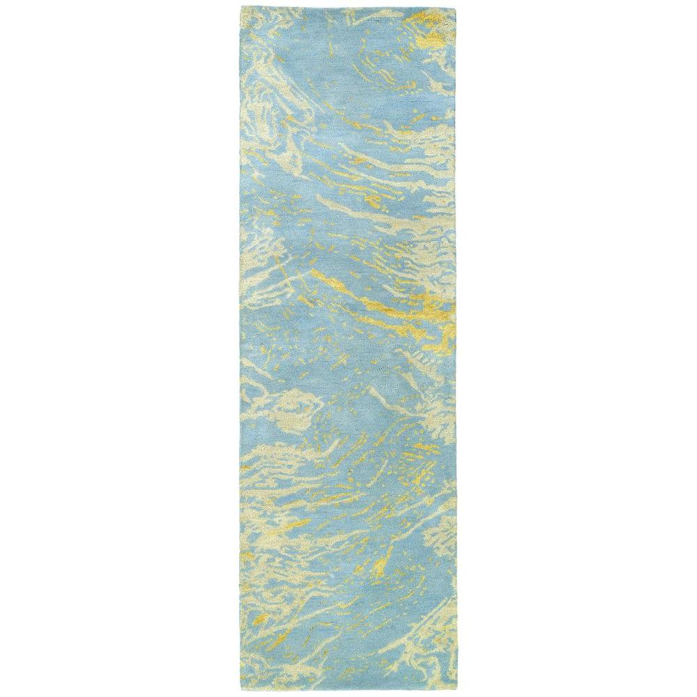 Kaleen Brushstrokes Blue 2 ft. 6 in. x 8 ft. Runner