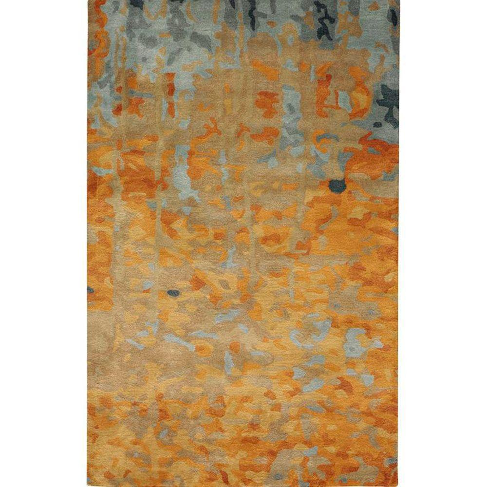 Home Decorators Collection Watercolor Gold 5 ft. 3 in. x 8 ft. Area Rug