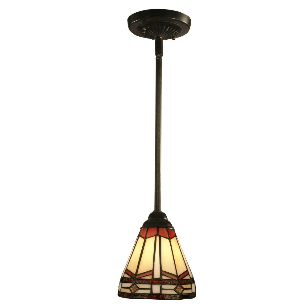 Springdale Lighting Jewel Mission 1-Light Antique Bronze
