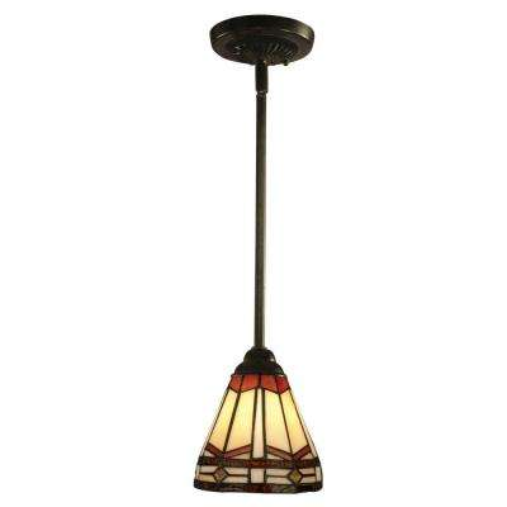Jewel Mission 1-Light Antique Bronze Hanging Mini Pendant Lamp
