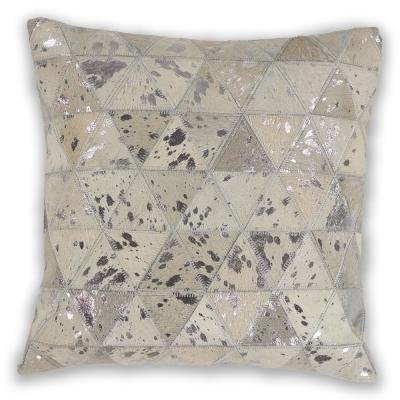Kas Rugs Ivory Prism 18 in. x 18 in. Decorative Pillow