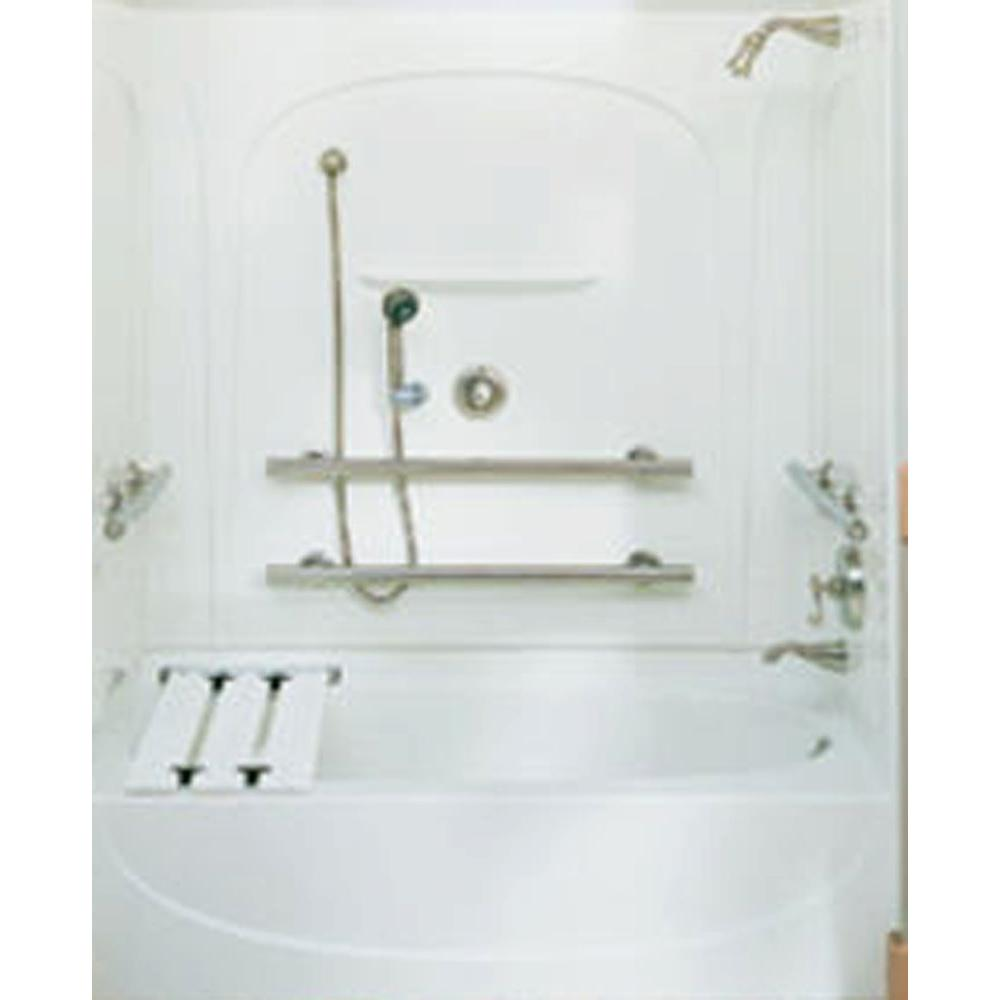 two piece shower tub unit. STERLING Acclaim 31 1 2 in  x 55 piece Direct to Stud Tub and Shower End Wall Set White 71095103 0 The Home Depot